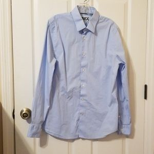 Light blue button down